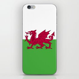 Wales flag emblem iPhone Skin