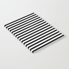 Stripe Black And White Vertical Line Bold Minimalism Stripes Lines Notebook