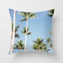 Sky high palm trees | Travel photography in the Dominican Republic | Central America. Throw Pillow