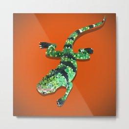 Iguana Techy Art Metal Print