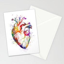 Heart Anatomy Art Heart Watercolor Art Anatomy Art Anatomical Heart Surgery Gift Medical Gift Stationery Cards