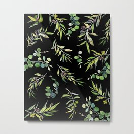 Eucalyptus and Olive Pattern  Metal Print