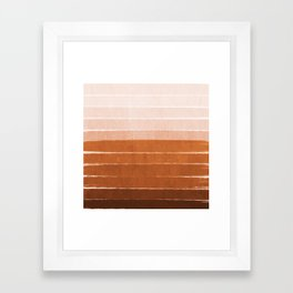 Sunset - rust, terracotta, clay, desert, sunshine, boho, ombre, paint, sunset colors,  Framed Art Print