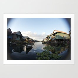 The Venice of Cambodia (Cambodia, Tonle Sap lake & Travel)  Art Print
