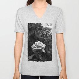 Pink Roses in Anzures 5 B&W Unisex V-Neck