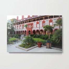 Flagler Courtyard Metal Print
