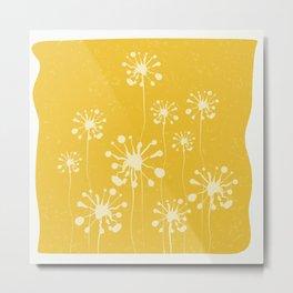 Summer meadow minimal floral Metal Print