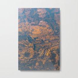 Golden Countryside Metal Print