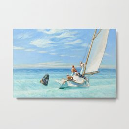 Ground Swell OIl Painting by Edward Hopper Metal Print