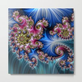 FRACTAL WORLD OF THE PRINCESS Metal Print