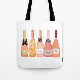 Rose Champagne Bottles Tote Bag
