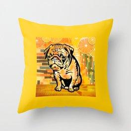 Pug pop art Throw Pillow