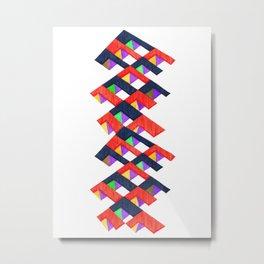 Vibrant Paths Metal Print