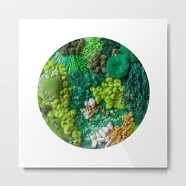 Moss Cluster Metal Print