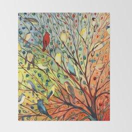 27 Birds Throw Blanket