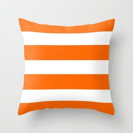 Mariniere marinière Orange Throw Pillow