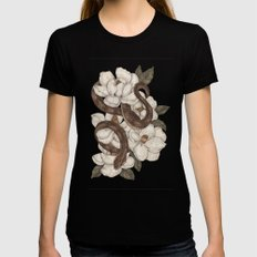 Snake and Magnolias Black MEDIUM Womens Fitted Tee