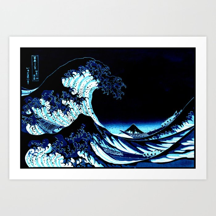 the Great Wave blue Kunstdrucke