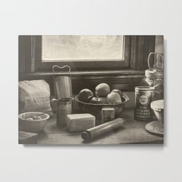 All The Fixings - Vintage Art Metal Print
