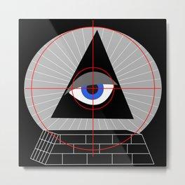 All-Seeing-Eye in the Crosshairs Metal Print