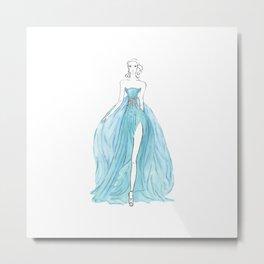 Floating Dress Metal Print