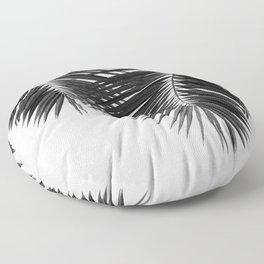 Palm Leaf Black & White II Floor Pillow