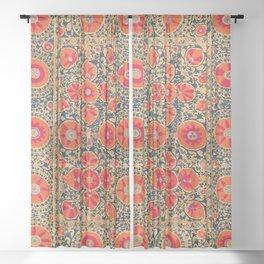 Kermina Suzani Uzbekistan Print Sheer Curtain