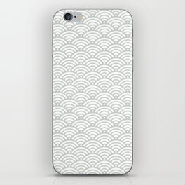 Gray Grey Seigaiha Wave Sea Salt Nautical Minimalist iPhone Skin