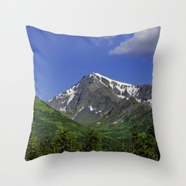 Scenic Seward Highway - Summer Throw Pillow