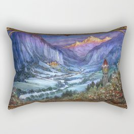 The Hidden Valley in Winter (bordered) Rectangular Pillow