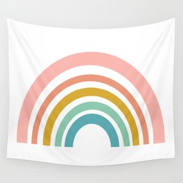 Simple Happy Rainbow Art Wall Tapestry