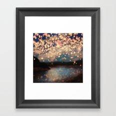 Love Wish Lanterns Framed Art Print
