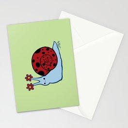 Ladybug Snail Stationery Cards