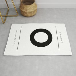 Oklahoma City Initial and Coordinates Rug
