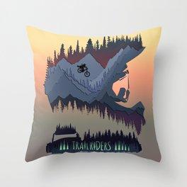Trailriders Throw Pillow