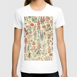Vintage Floral Drawings // Fleurs by Adolphe Millot XL 19th Century Science Textbook Artwork T-shirt