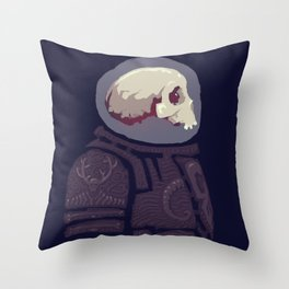 Spaceknight Skully Throw Pillow