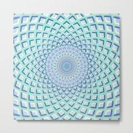 Just Breathe - Mandala Art Metal Print