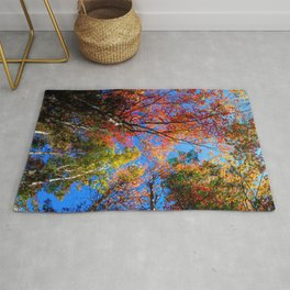 Colorful, Autumn In New Hampshire by OLena Art Rug
