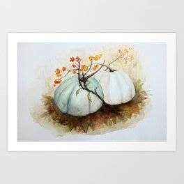 Pumpkin Patch - Watercolor Art Print