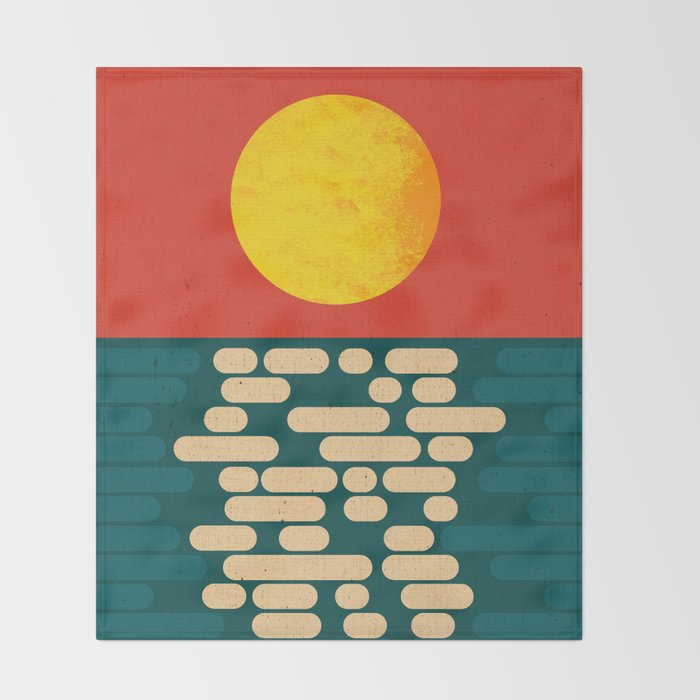 Sun Over The Sea - Afternoon Throw Blanket