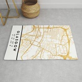 GLASGOW SCOTLAND CITY STREET MAP ART Rug