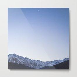 Daylight Moon Ridge Metal Print