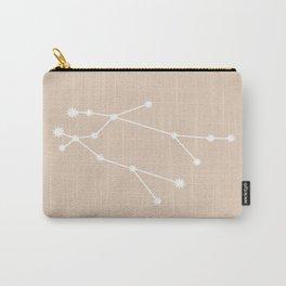 Gemini Zodiac Constellation - Warm Neutral Carry-All Pouch
