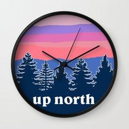 up north, pink hues Wall Clock