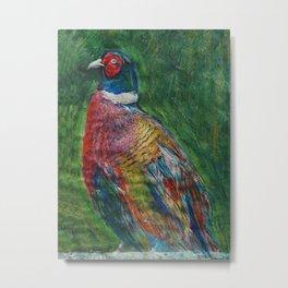 George III, the pheasant Metal Print