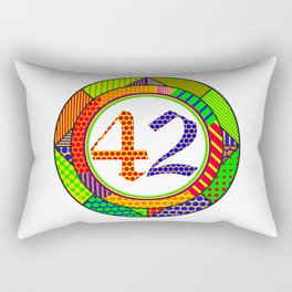 42 - Answer to the Ultimate Question of Life, the Universe, and Everything Rectangular Pillow