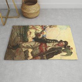 """Long John Silver"" Pirate Art by Louis Rhead Rug"