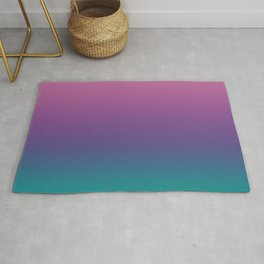 Pastel Gradient Pink Lavender Ultra Violet Arcadia Pattern | Pantone colors of the year 2018 Rug