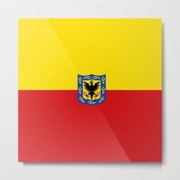 Flag of Bogota Metal Print
